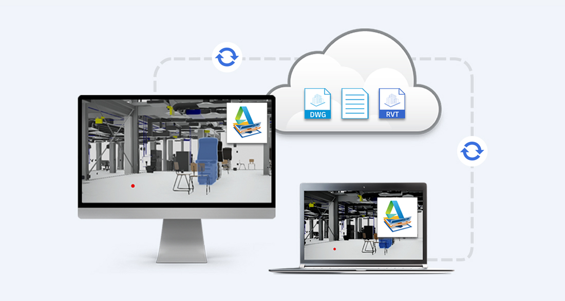 Image showing ability to access BIM and CAD cloud files from your desktop with Desktop Connector in BIM 360 Team