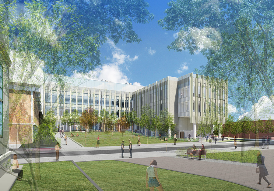 Rendering of Brown University Engineering Research Center by KieranTimberlake Architects