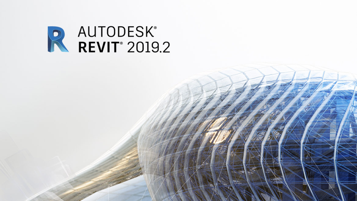 "Brand image with rendering of structure used for Revit family, with ""Revit 2019.2"" superimposed as text. Image used in blog post announcing release of Cloud Models for Revit in the 2019.2 release."