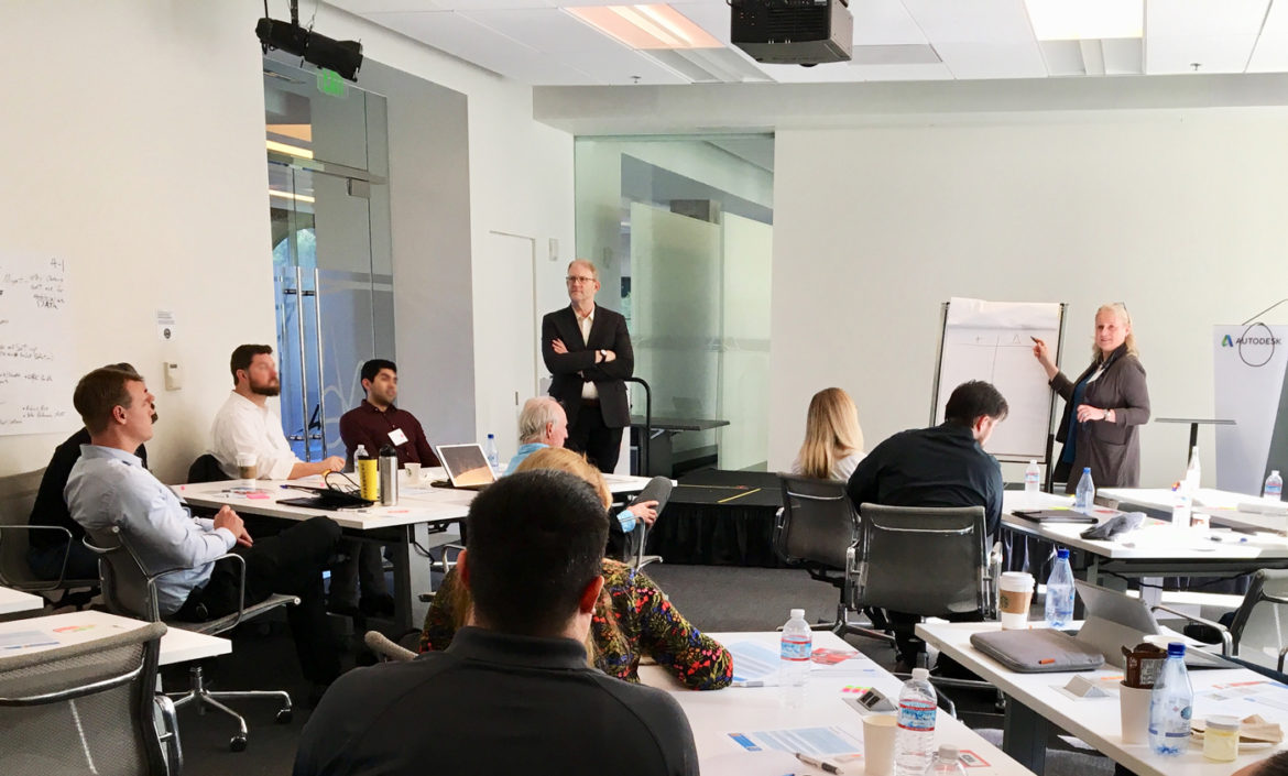 Photo of Phil Bernstein in SF workshop on project delivery